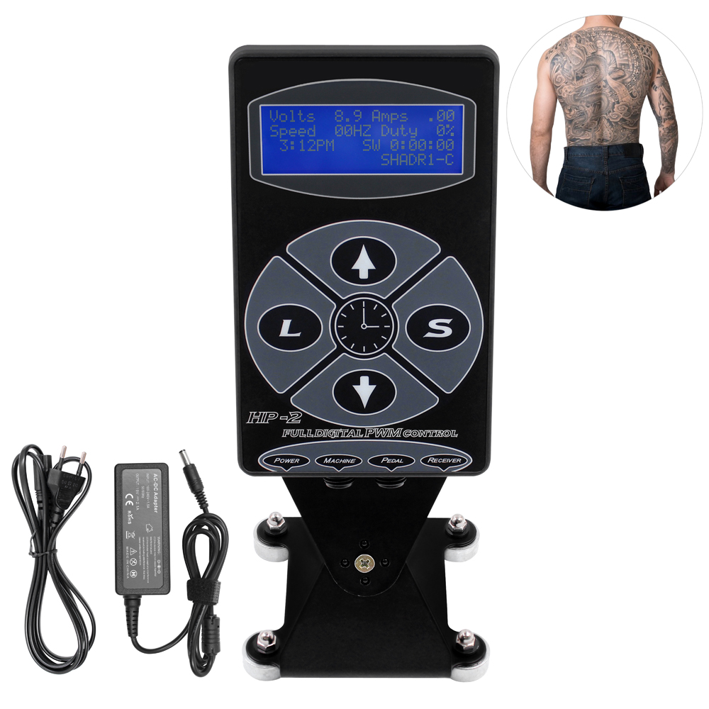 THUNDERLORD HP-2 Tattoo Power Supply Digital Power LCD Display Black Electric Source For Kits Machine