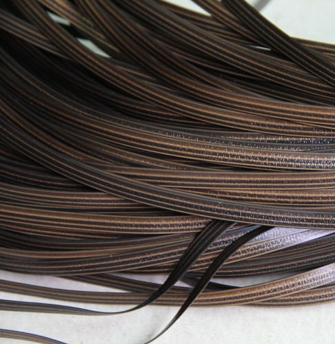 65meters Coffee Gradient Flat Synthetic Rattan Weaving Material Plastic Rattan For Knit And Repair Chair Table Synthetic Rattan