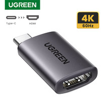 UGREEN Adapter USB C na HDMI 4K 60Hz, typ C Thunderbolt 3 męski na HDMI 2.0 żeński Adapter kompatybilny z MacBook Pro, MacBook
