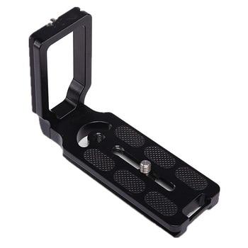 Hafif SLR kamera evrensel L şekli tutucu tripod braketi hızlı çıkarma plakası
