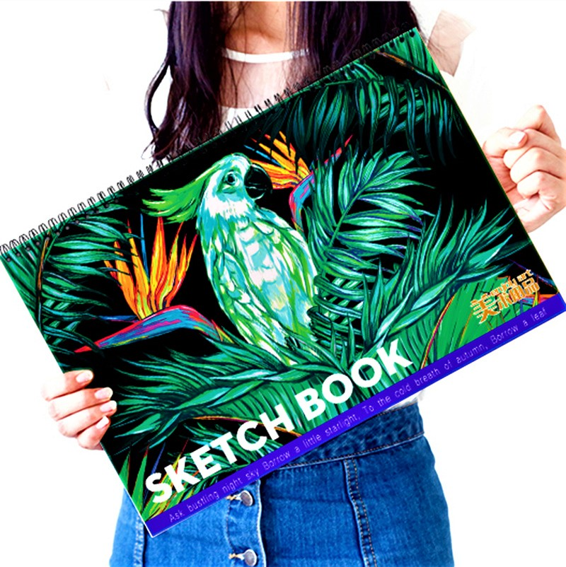 A3 Creative 20 Sheets Impression Hand-painted Notebook Fashion Printing Graffiti Sketchbook Great Business Gift Notepad