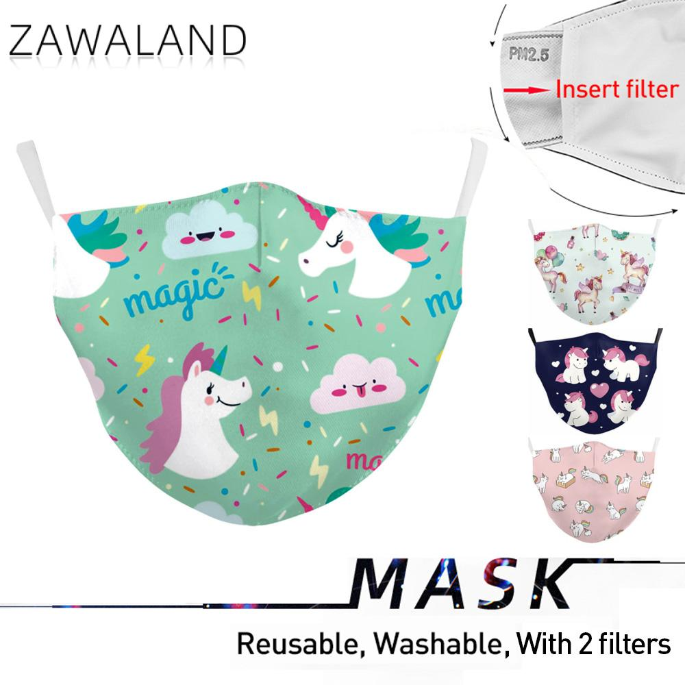 Zawaland Children's Unicorn Mouth Masks Lovely Printing Face Mask Cover Reusable Proof Bacteria Mask