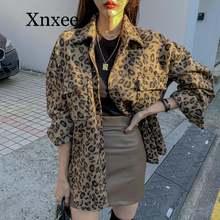 Женская винтажная куртка с леопардовым принтом размера плюс