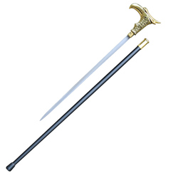 Cos Adler kopf/hund kopf form cane alten mann cane 90 cm 0,6 kg alle metall material edelstahl klinge