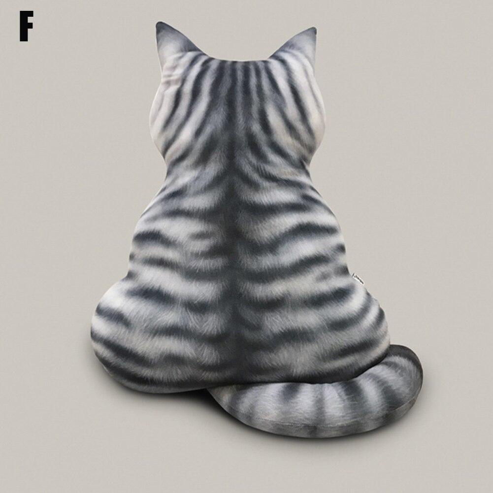43 см мягкие кошки Подушка силуэт короткие плюшевые PP хлопок плюшевые куклы игрушки кошки подушка милый подарок - Цвет: F