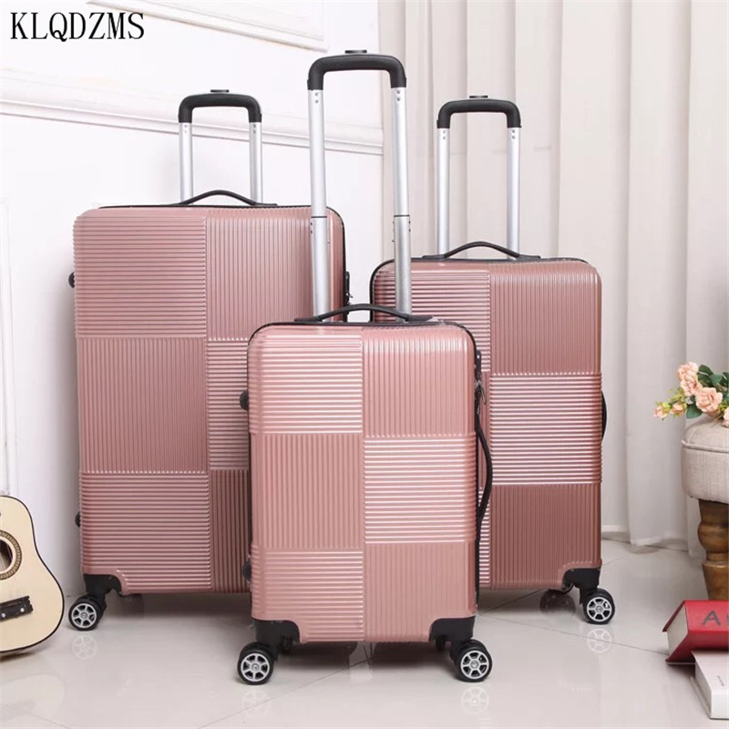 "KLQDZMS Cheap20""24""28inch  Rolling Luggage Spinner Men Women Business Travel Suitcase On Wheels"