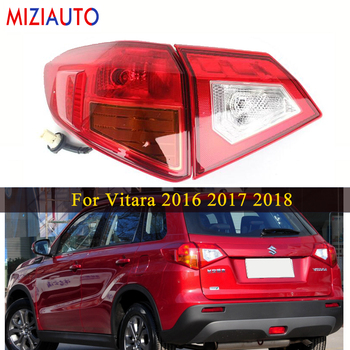 Left/Right Rear tail light For SUZUKI For Vitara 16-18 Tail Stop Brake Lights Car Accessories Rear turn signal Fog lamp 1 pair right and left led tail lights red runing brake yellow turn signal white for jeep wrangler jk 07 16 eu