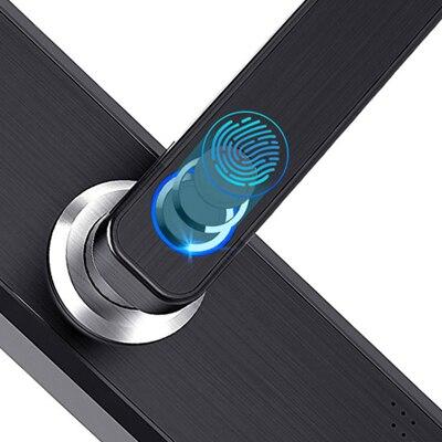 Tuya Smart APP Fingerprint Türschloss Smartcard Digitale Code Elektronische Türschloss Home Security Einsteckschloss Mit 13,56 Karten - 6