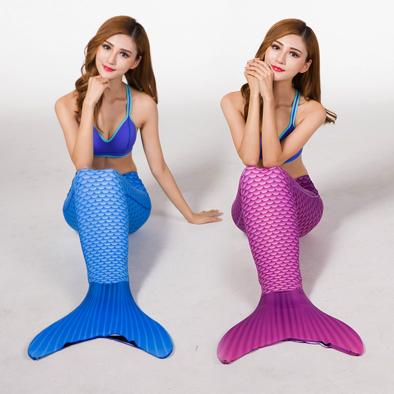 Adult Lycra Model Fish Scales Mermaid One-piece Swimming Suit 7 Color Hot Selling