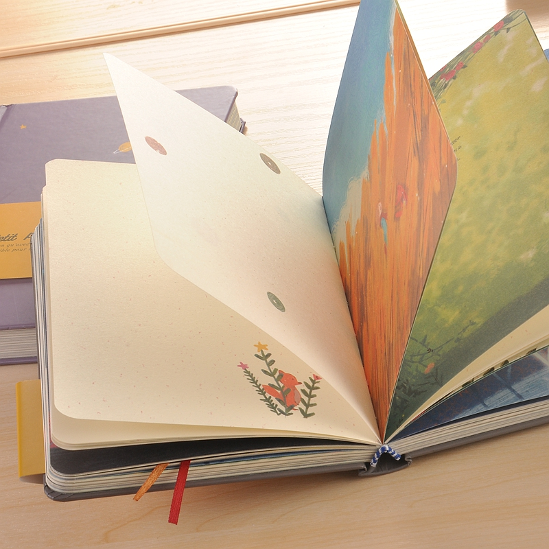 2020 Retro Little Prince Color Notebook Hardcover Paper Diary School Office Simple Literary Girl Stationery Creative Hand Book