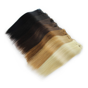 Image 2 - MRSHAIR Clip In Human Hair Extensions Machine Made Remy Straight Hair #60 Blonde Brown Natural Color Hair 7pcs Brazilian Hair