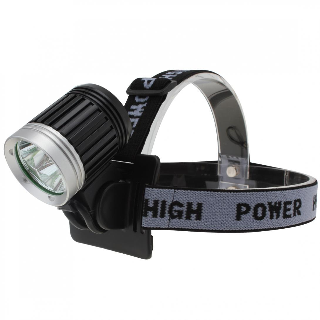 Portable Headlamp Adjustable Gray Head Strap Mount Headband For LED Headlight Flashlight Torch Light