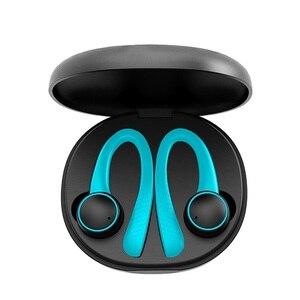 Image 2 - TWS אוזניות אלחוטי bluetooth 5.0 באוזן סיליקון רך Hifi סטריאו ספורט אוזניות עם טעינת תיבת T7 פרו עבור טלפון