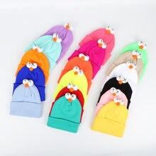 Детские милые вязаные шапки с большими глазами осенне зимние