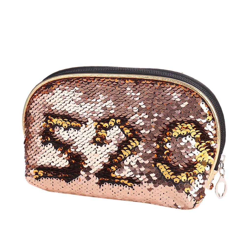 マーメイドスパンコールペンケース化粧品コインポーチ収納ジッパー財布ホット z8070