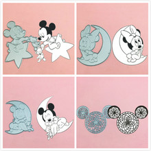 Mickey Minnie head bear bow Metal Cut Dies Stencils for Scrapbooking Stamp/photo album Decorative Embossing DIY Paper Cards