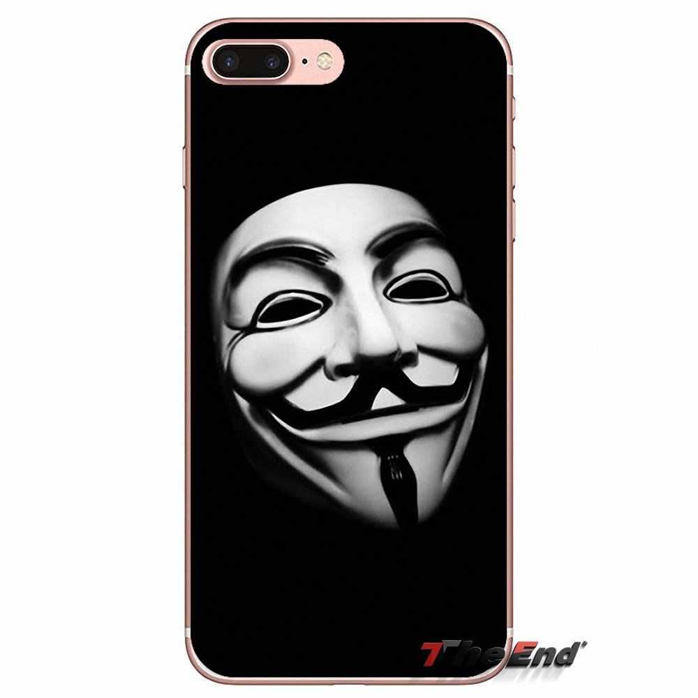 V untuk Vendetta Masker Mawar Silikon TPU Case untuk Samsung Galaxy S9 Plus Catatan 8 PLUS OnePlus 5T Meizu m5s LG V30 HTC U11