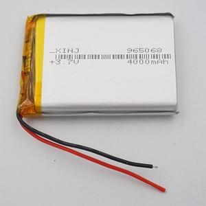 XINJ 3.7V 4000 mAh Lithium Polymer Rechargeable Li Po Li ion Battery 965068 For DIY GPS MID DVC PSP Phone Power bank Tablet PC