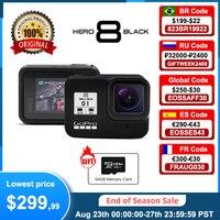 Videocamera GoPro HERO 8 nera impermeabile originale 4K Ultra HD Video 12MP foto 1080p Streaming Live Go Pro Hero8 Sports Cam