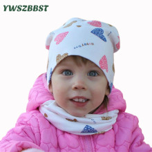 New Fashion Cartoon Spring Autumn Winter Baby Hat Set Boys Girls Neck Scarf Warm Cap Kids Beanies Sets Cotton Children Hat Scarf