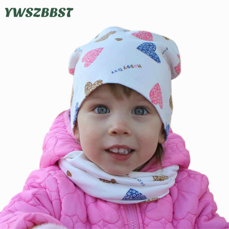 Baby Girls Boys Hat /& Scarf Toddler Set Hat Double Cotton Winter Autumn Set of 2