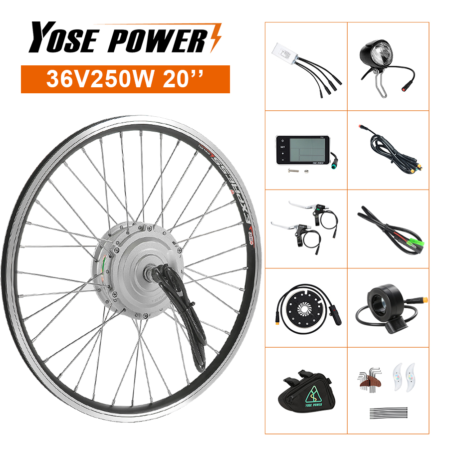 Ebike Conversion Kit 20'' Electric Bicycle Conversion Kit <font><b>36V</b></font> 250W Front Hub <font><b>Motor</b></font> Wheel E bike Kit <font><b>Motor</b></font> Brushless image