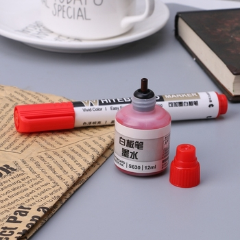 Drop Ship&Wholesale 12ml Refill Ink For Refilling Inks Whiteboard Marker Pen Black Red Blue 3 Colors Nov.8 image