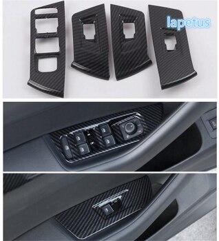 Kit de Interior Lapetus para Volkswagen Arteon 2018-2020, embellecedor de Panel de botones con reposabrazos de puerta y ventana con apariencia de fibra de carbono