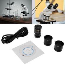 HD CMOS 2.0MP USB Oculare Elettronico Macchina Fotografica del Microscopio Dimensioni di Montaggio 23.2 millimetri con Anello SIM Card E Adattatori 30 millimetri 30.5 millimetri