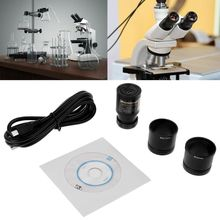HD CMOS 2.0MP USB ocular electrónico microscopio Cámara tamaño de montaje 23,2mm con adaptadores de anillo 30mm 30,5mm