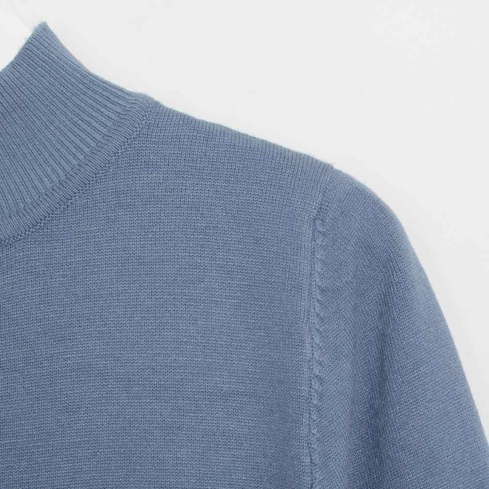 Wixra pull robes élégant col roulé à manches longues genou longueur dame femmes ceintures robes en tricot 2019 automne hiver