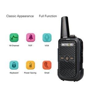 Image 2 - Retevis RT15 Mini Walkie Talkie 2 sztuk przenośny dwukierunkowy stacji radiowej UHF VOX USB do ładowania Transceiver komunikator walkie talkie