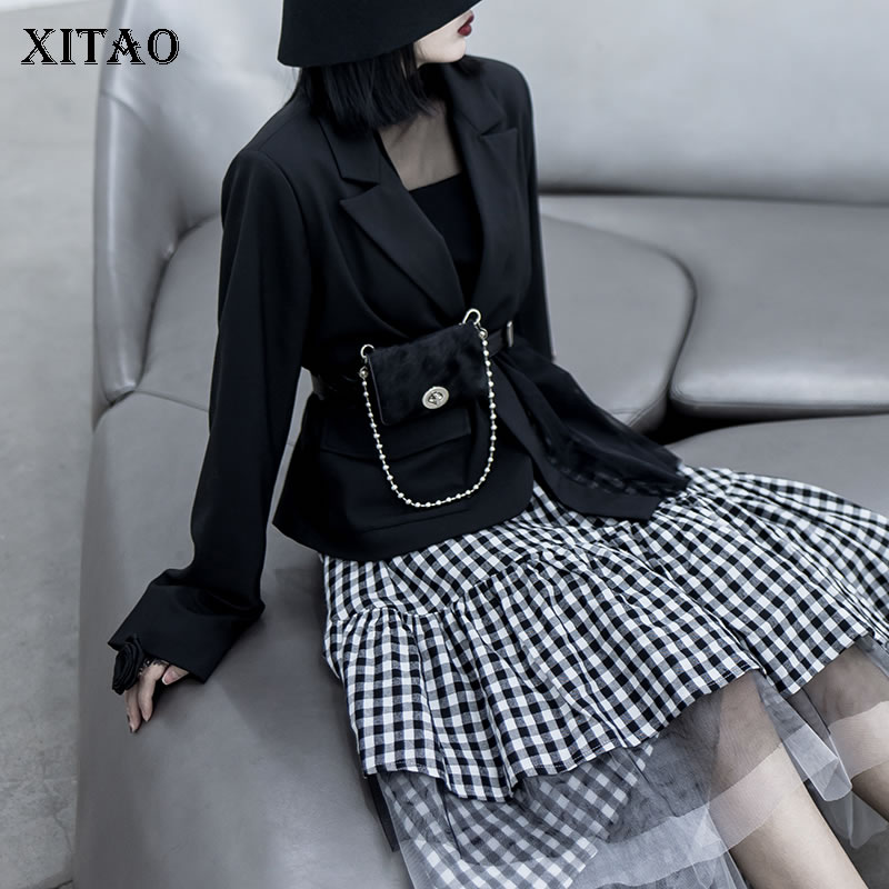 XITAO Women Fashion Cummerbunds Minority Loose 2020 New Simple And Versatile Belt Type Mohai Capillary Bag For Women XJ3513