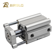 CQMB Double Acting guide rod compact air pneumatic cylinder Built-in Magnet model- CDQMB12 16 bore 12 16mm stroke 5-50mm