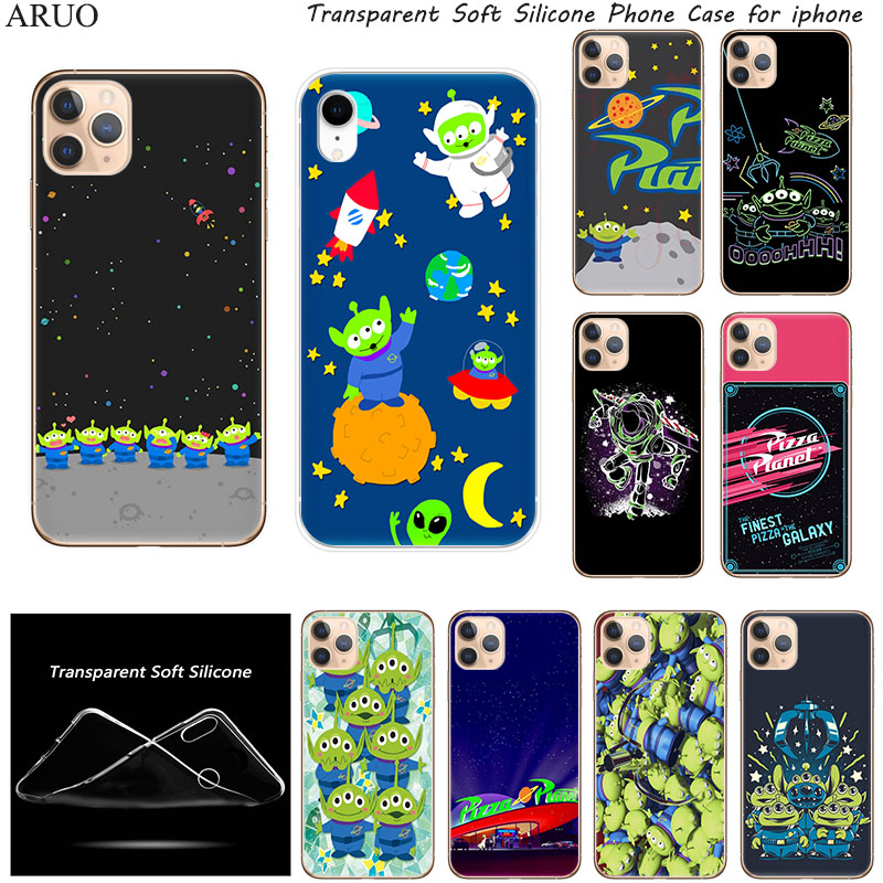 SOFT TPU Silicone Phone Case for <font><b>iphone</b></font> 11 11Pro XS Max X XR SE <font><b>Toy</b></font> <font><b>Story</b></font> Pizza Planet for 7 8 6s 9 Plus 5S Cover Coque <font><b>Fundas</b></font> image