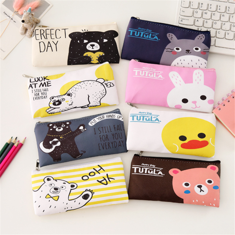 Vogvigo Cartoon Animal Makeup Bag  Zipper Cosmetic Organizer Bag Students School Cosmetic Pencil Bag  Coin Change Case Pouch New