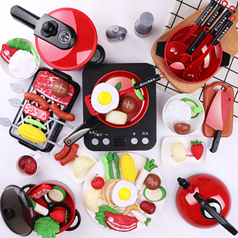 Children Kitchen Toys Set Pretend Play Simulation Food Cookware Pot Pan Cooking Play House Kitchen Kids Toy Gift For Girls Boys