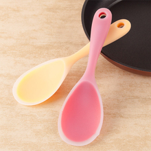 Silicone Rice Spoon Food Grade Silica Large Spoons Short Handle Non-stick Home Cooking Utensils Kitchen Tool