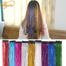 One Clip-In-Hairpieces Hair-Extension-Accessories WIGSIN Colorful-Colors Synthetic Women