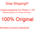 50 Pcs 100% Original Earphone For iPhone 11 8 7 Xs Xr Max HiFi Stereo Headphone With Mic fone de ouvido For iPhone 7 8 Plus