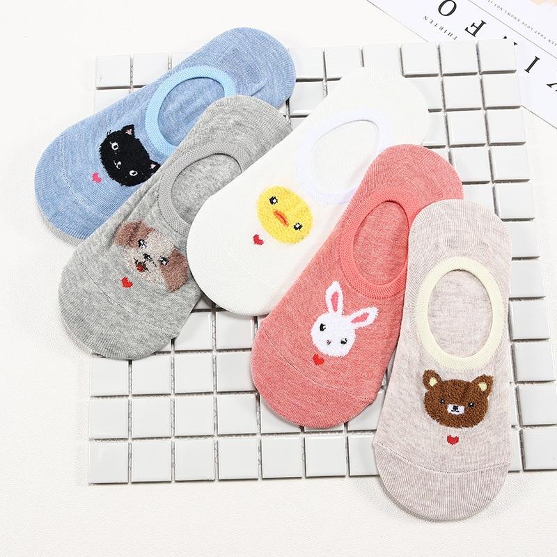 27 Style 10 Piece=5 Pairs/Lot Cute Harajuku Animal Women Socks Set Funny Spring Cat Dog Rabbit Panda Low Cut Short Sock Happy 4