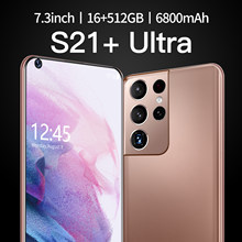 Global Version 7.3 Inch S21+Uitra Smartphone 16G +512G ROM 6800mAh Large Battery Android Full Display Dual SIM 4G/5G Call Phone