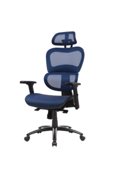 Two Colors Ergonomic Office Chair Mesh Chair Computer Chair Desk Chair High Back Chair with Adjustable Headrest and Armrest-blue 4