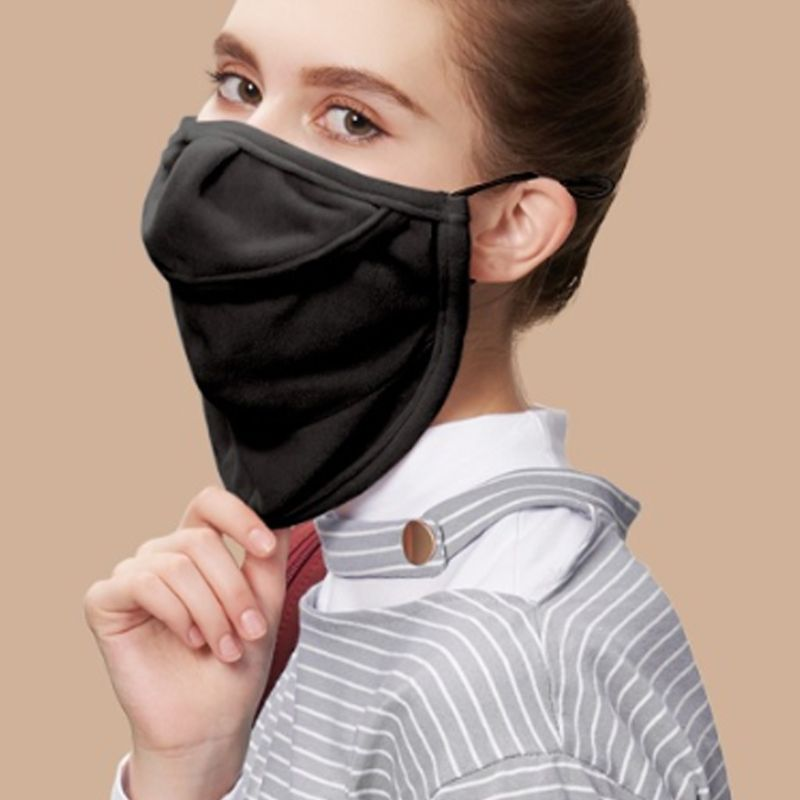 Women Men Winter Warm Face Mouth Mask Open Nose Anti-Dust Windproof Neck Gaiter 95AB