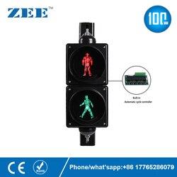 Luz LED de semáforo para peatones de 4 y 100mm, luz roja y verde
