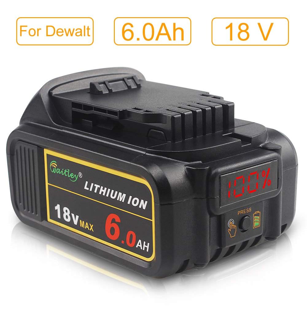 3 X dewalt DCB184 5.0ah 18v XR Lithium Ion Batterie LI-ION
