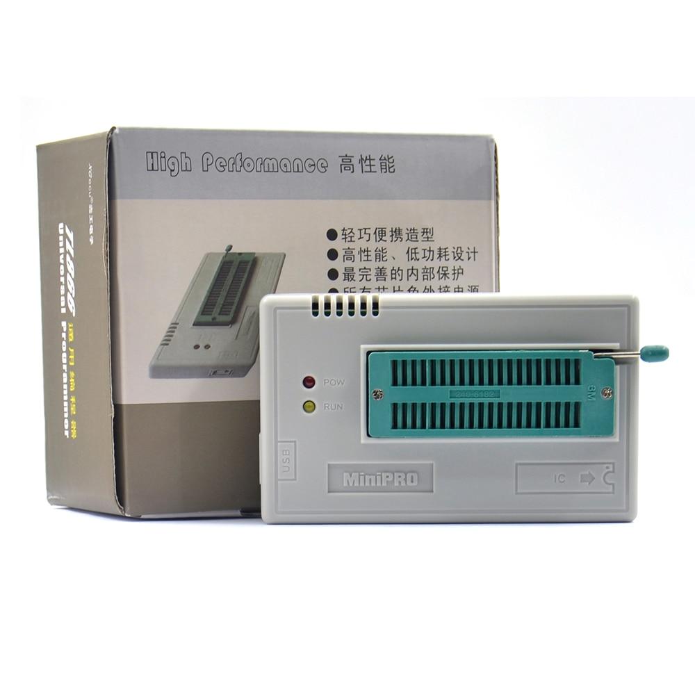 Free Shipping 100% Original TL866II Plus V9.16 EEPROM PIC AVR USB Universal BIOS Nand Programmer 24 93 25 Mcu Bios EPROM Soic8