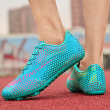Men Women Track and Field Sports Shoes Spikes Athletes Running Soft Tracking Shoes Sports Shoes Large Size Unisex Track Racing