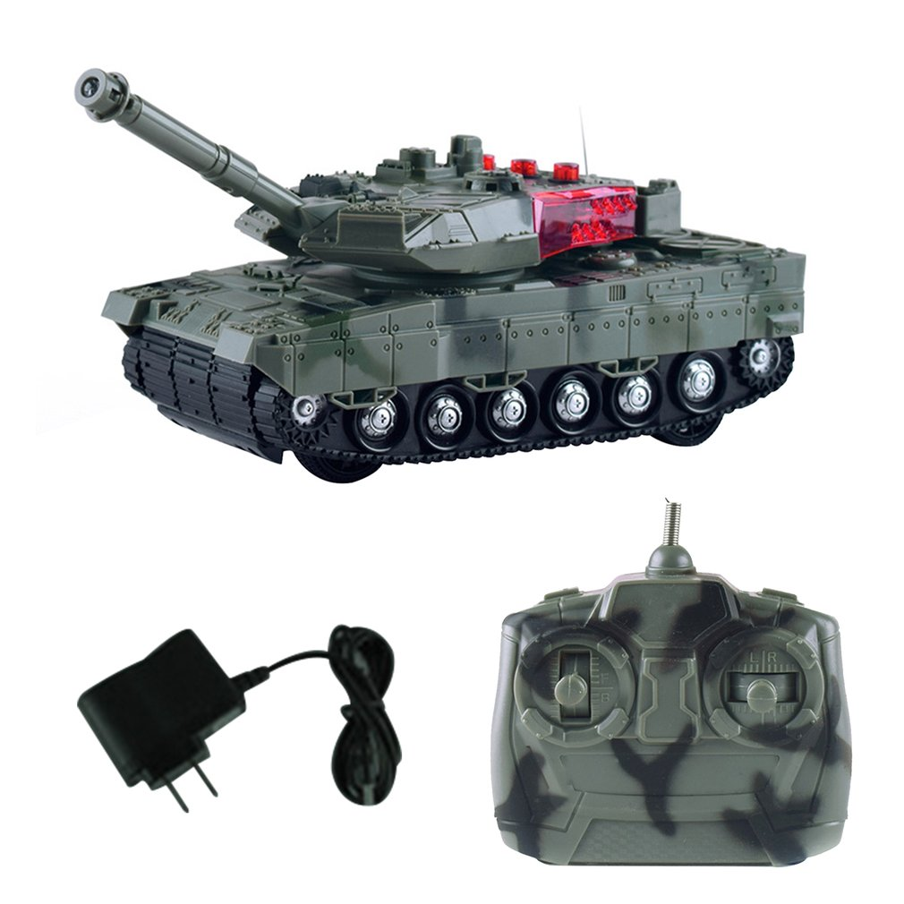 High Simulation Electric RC Tank 4 Channels Remote Control Battle Tanks Model Toys For Boys Children Christmas Gift