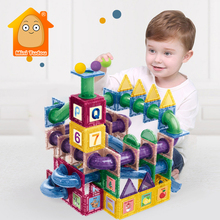 74-97 PCS Magnetic Building Blocks Toy Magnet Designer Construction Brick Ball Set Model Educational Toys For Children Gift